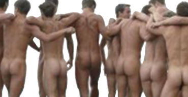 nude men group - butts